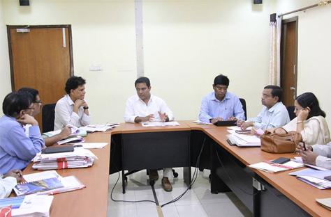 KTR review on Panchayath Raj department