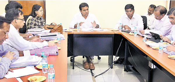 KTR review with Rural water supply department