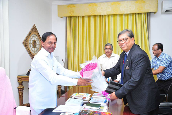 KCR with NTPC Chairmen