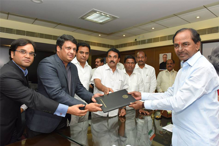 KCR handover TS Ipass approval to Industrialists