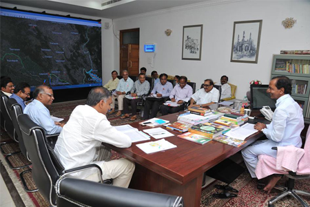 KCR review meet on Pending irrigation projects