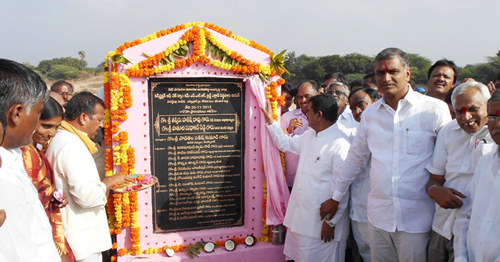 Harish-Rao-laid-foundation-stone-for-check-dam-in-husnabad-constituency