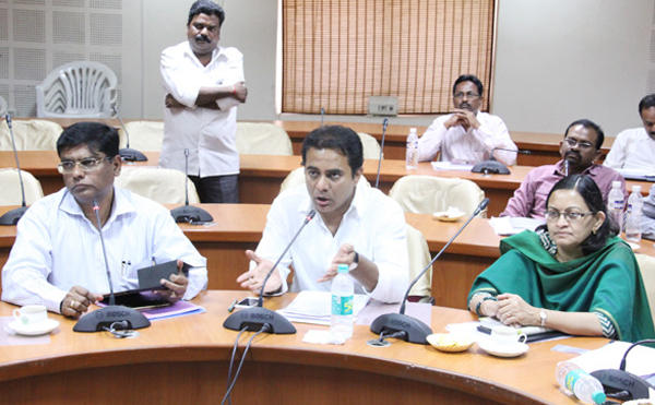 KTR video conference with District collectors