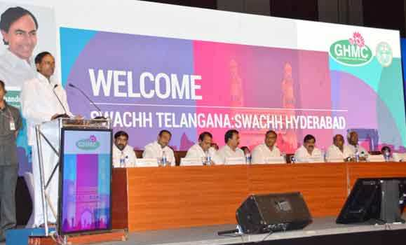 KCR addressing in Swacbharath programme