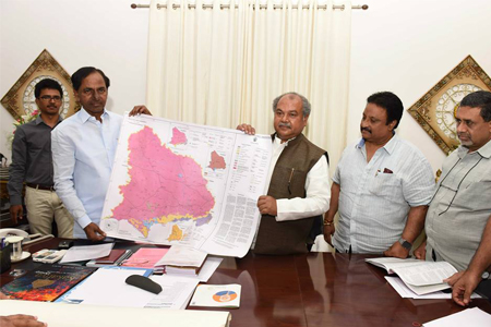 KCR met with Narendra singh thomar