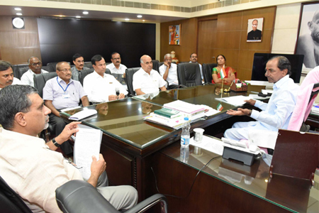 KCR review meet on Power supply