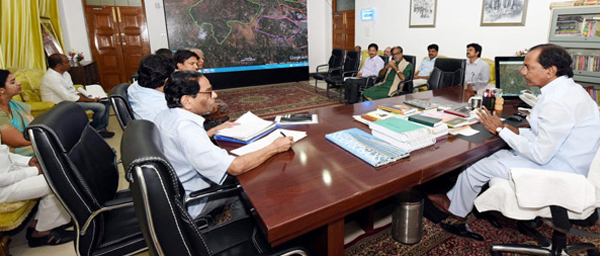 KCR review meet on Gajwel development authority